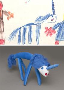 15 Einhorn Daniela Zeichng und Puppe