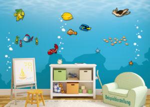 MeeresabenteuerKomplettset_Zimmeransicht_3D_Wand_Design_Kinder_Schild
